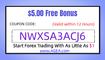 AGEA No Deposit Bous $5 Coupon Code