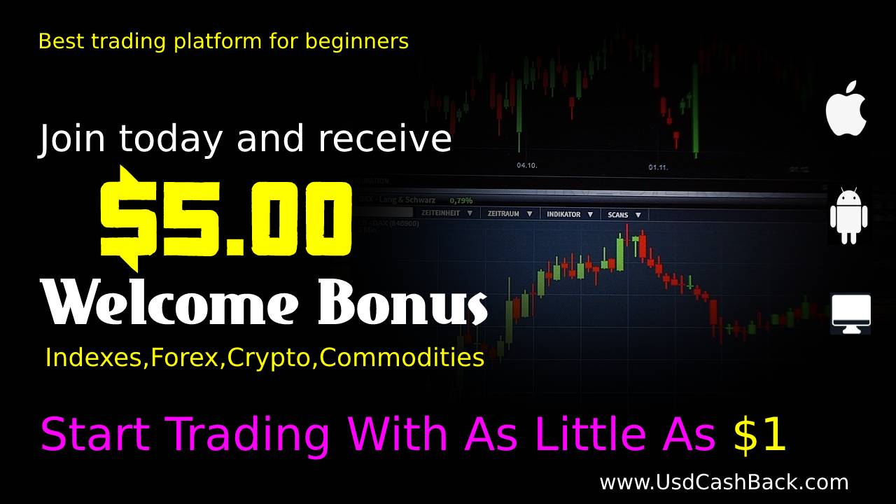 start forex commodities bitcoin trading with 1 free no deposit bonus